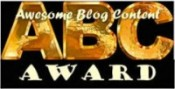 awesome blog content ABC award