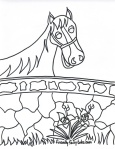 friendly stallion coloring page