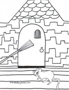 Mouse Escaping coloring page