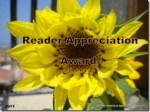 Reader Appreciation Award