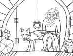 Free Baby Coyote Coloring Page