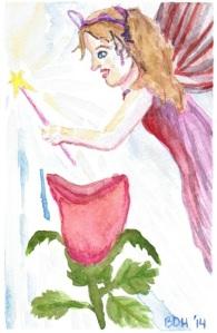 Purple Fairy by Brenda Davis Harsham
