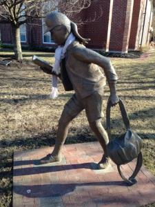 Statue school girl