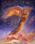Angel Award with harp