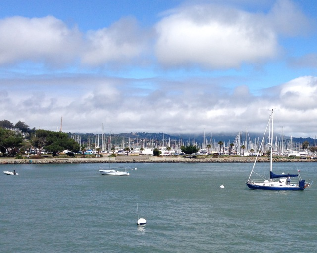 Sausalito Marina from Ferry to SF