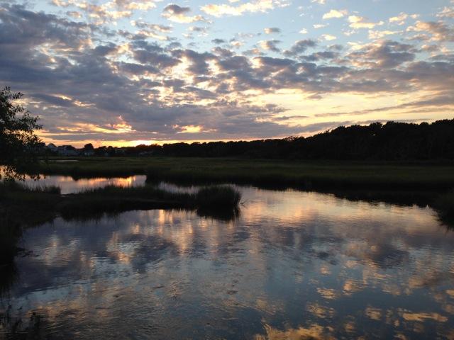 West Dennis MA Wetlands at Sunset