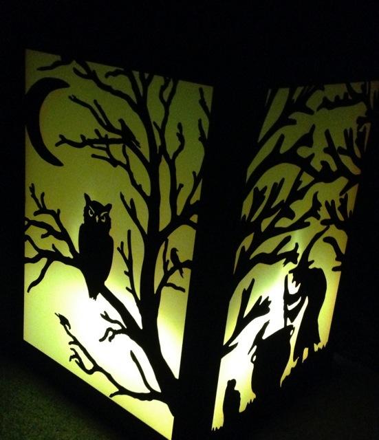 Spooky lantern, halloween