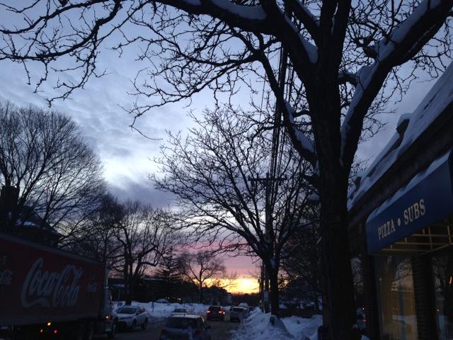 Sunset in Newton Highlands