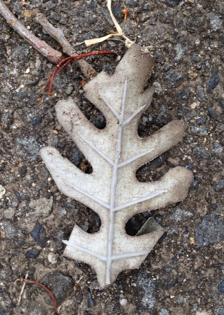Ghost oak leaf