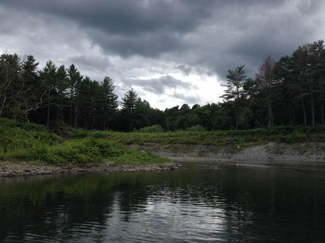 Moody Sky at river