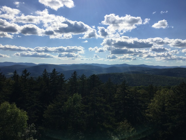 Allis State Park, Vermont, from the Fire Tower, sunny day