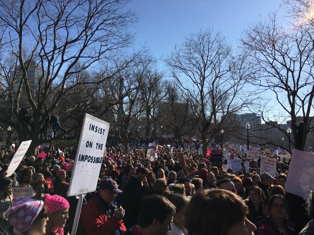 January 21 2017 Boston Women's March at Boston Common