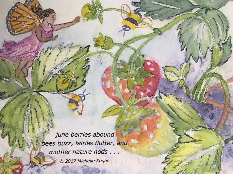 haiku and fairy artwork by artist/illustrator Michelle Kogan