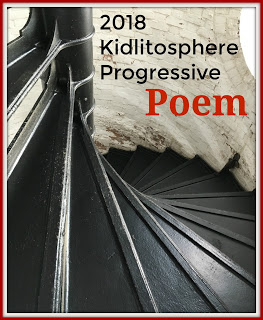 2018 Progressive Poem, photo of spiral staircase