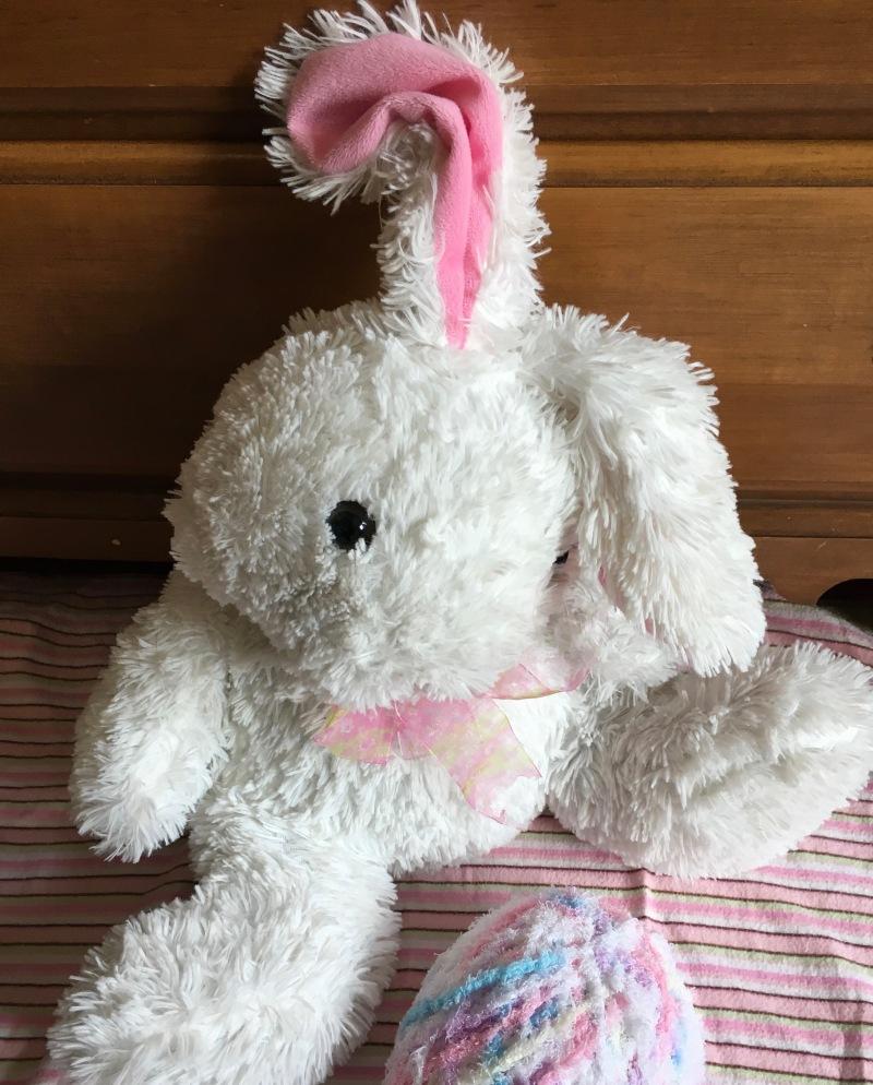 White, fluffy Easter Bunny